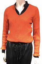 Rib Pullover orange flame